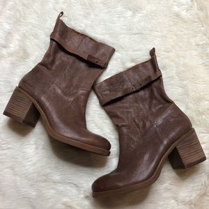 Lucky Brand Brown Leather Slouch Boots